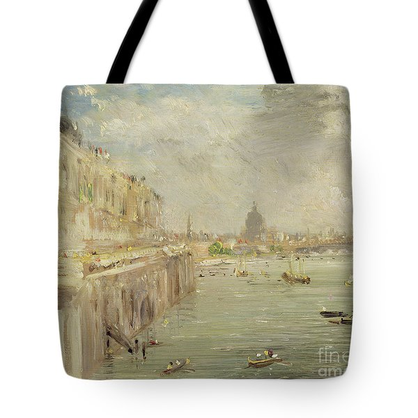 View Of Somerset House Terrace And St. Paul's Tote Bag