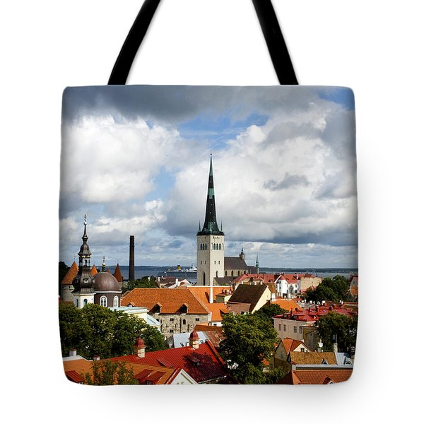 View Of St Olav's Church Tote Bag