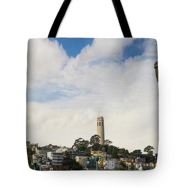 View Of Telegraph Hill Neighborhood San Francisco Tote Bag