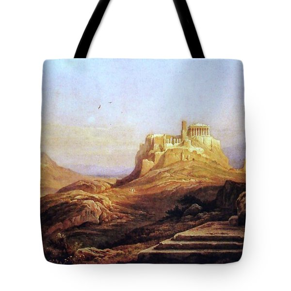 View Of The Acropolis From The Pynx Tote Bag