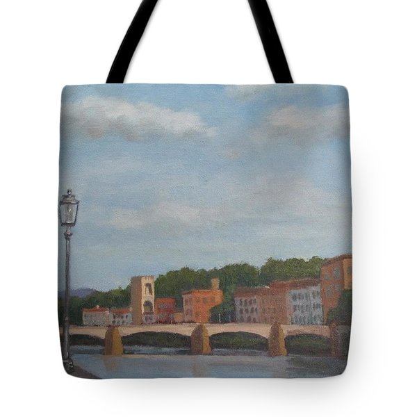 Tote Bag featuring the painting View Of The Arno 2 by Jennifer Boswell