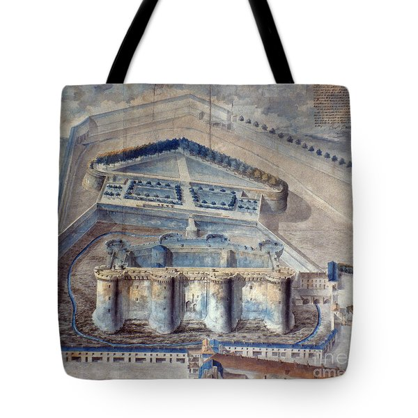 View Of The Bastille Tote Bag by Granger