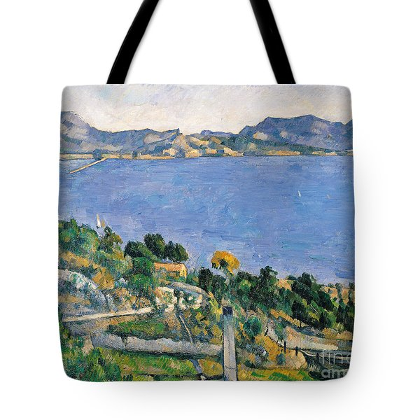 View Of The Bay Of Marseilles Tote Bag by Paul Cezanne