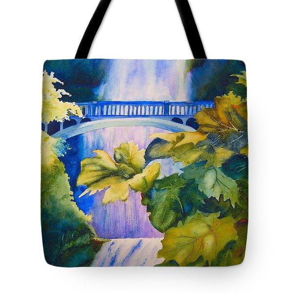 View Of The Bridge Tote Bag by Karen Stark