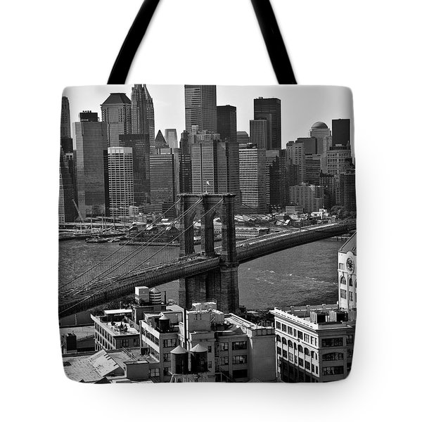 View Of The Brooklyn Bridge Tote Bag