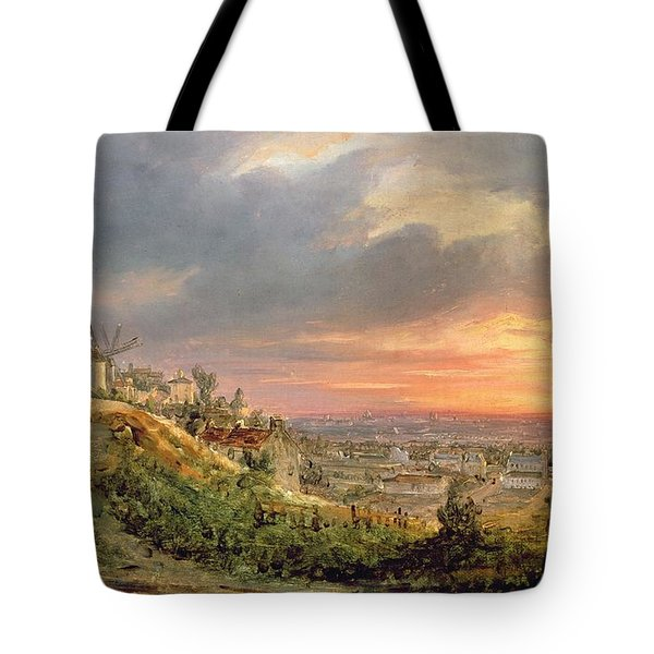 View Of The Butte Montmartre Tote Bag by Louis Jacques Mande Daguerre
