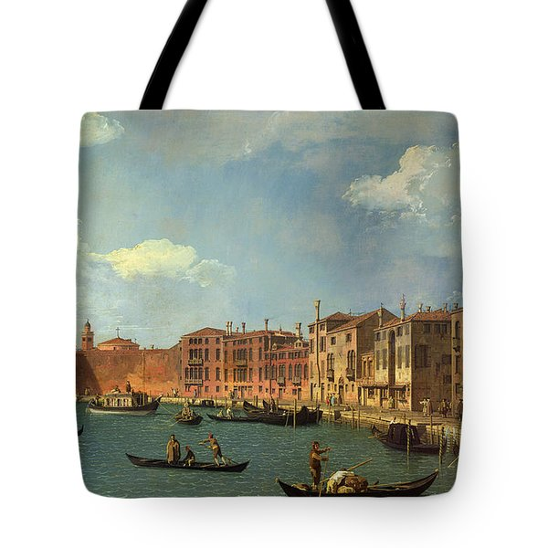 View Of The Canal Of Santa Chiara Tote Bag by Canaletto