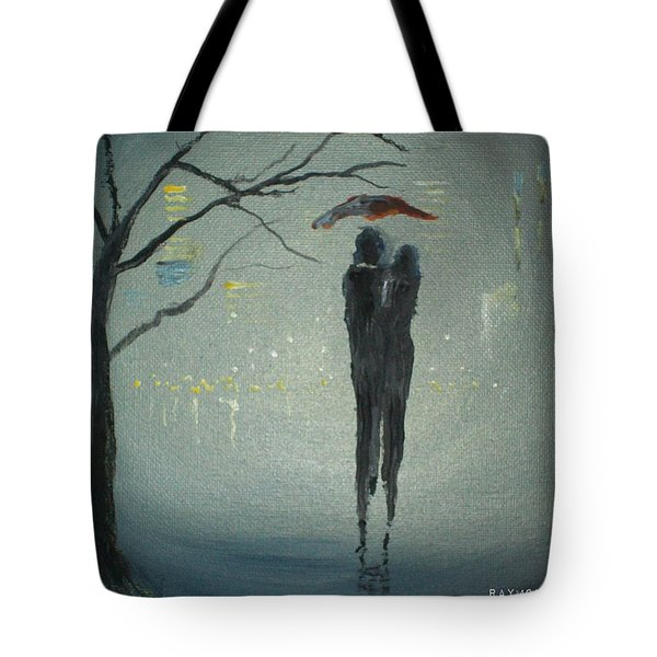 Tote Bag featuring the painting View Of The City by Raymond Doward