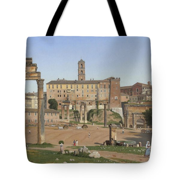 View Of The Forum In Rome Tote Bag