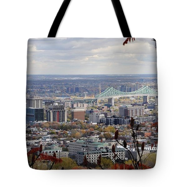 View Of The Jacques Cartier Bridge Tote Bag