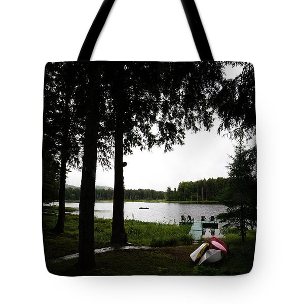 Tote Bag featuring the photograph View Of The Pond by David Patterson
