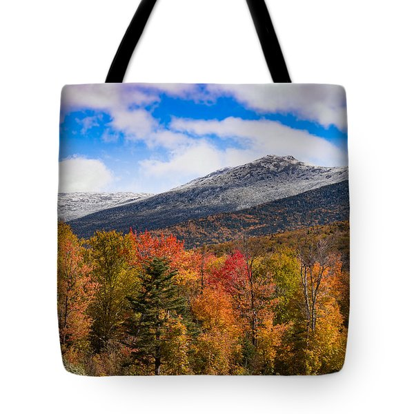 View Of The Presidential Mountains Tote Bag