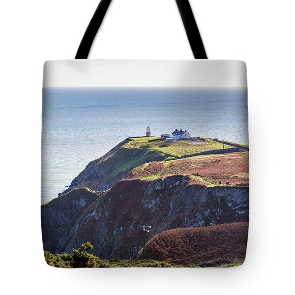 Tote Bag featuring the photograph View Of The Trails On Howth Cliffs And Howth Head In Ireland by Semmick Photo