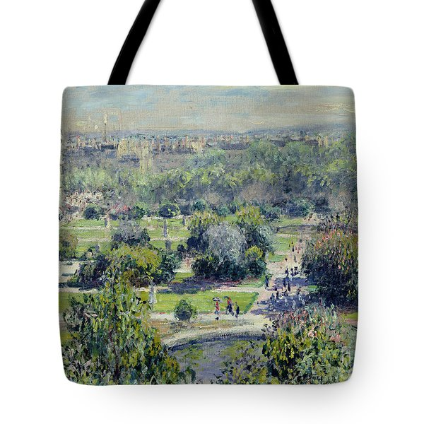 View Of The Tuileries Gardens Tote Bag
