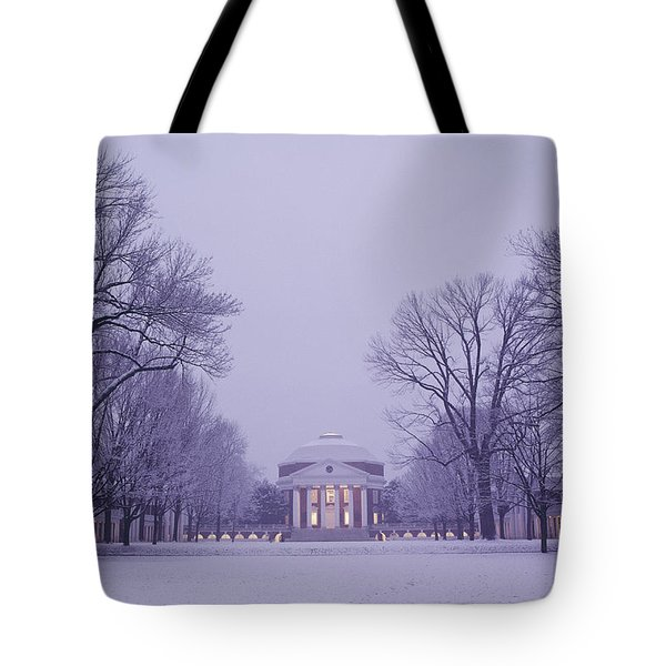 View Of The University Of Virginias Tote Bag