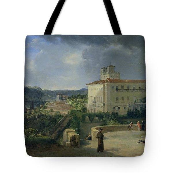 View Of The Villa Medici In Rome Tote Bag by Nicolas Antoine Taunay