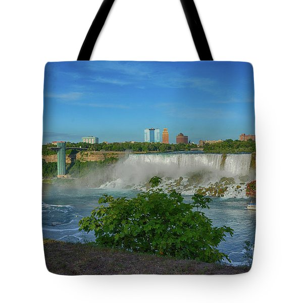 View Of Usa From Canada Tote Bag