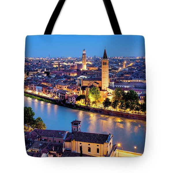 Tote Bag featuring the photograph View Of Verona by Fabrizio Troiani
