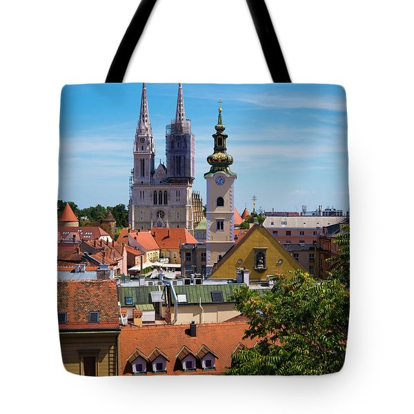 View Of Zagreb Tote Bag by Rae Tucker