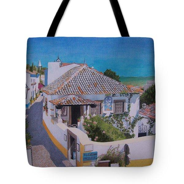 View On Obidos Tote Bag