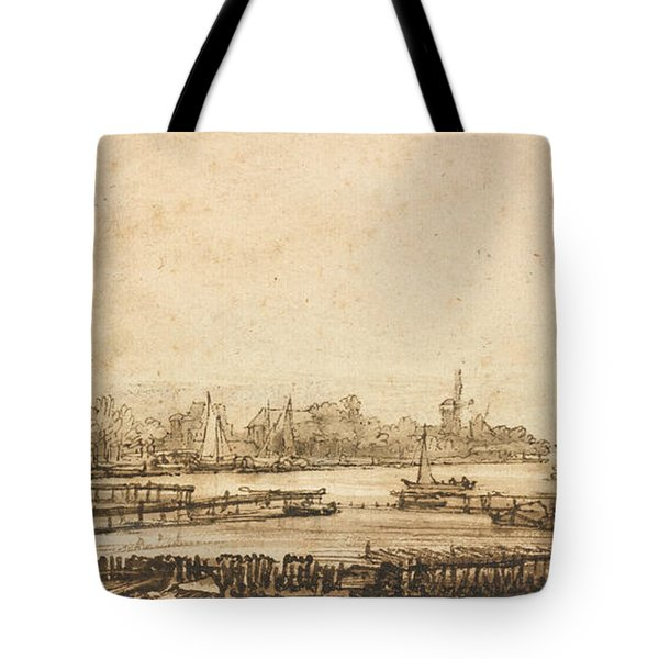 View Over The Amstel From The Rampart Tote Bag