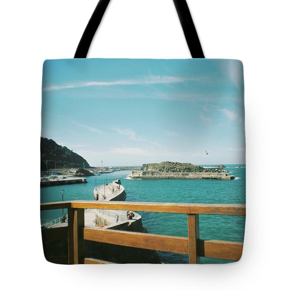 View Over The Ocean Port Tote Bag