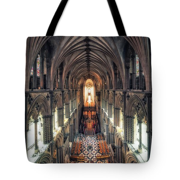 View Through Ely Cathedral Tote Bag