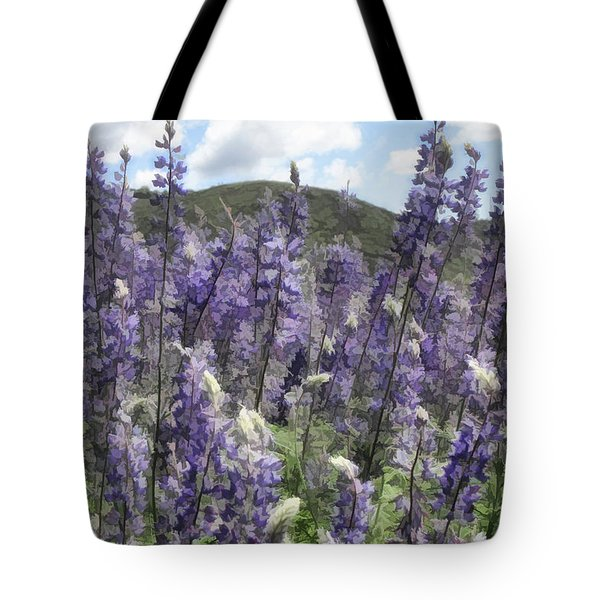 View Through The Lupines Tote Bag