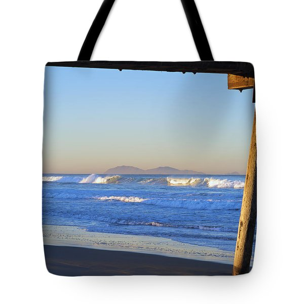 View Through The Pier Tote Bag