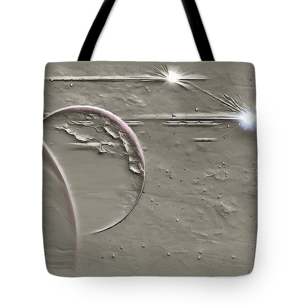 View To A Gray Universe Tote Bag