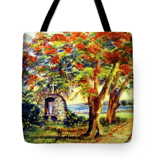 View To Aguadilla Bay Tote Bag by Estela Robles