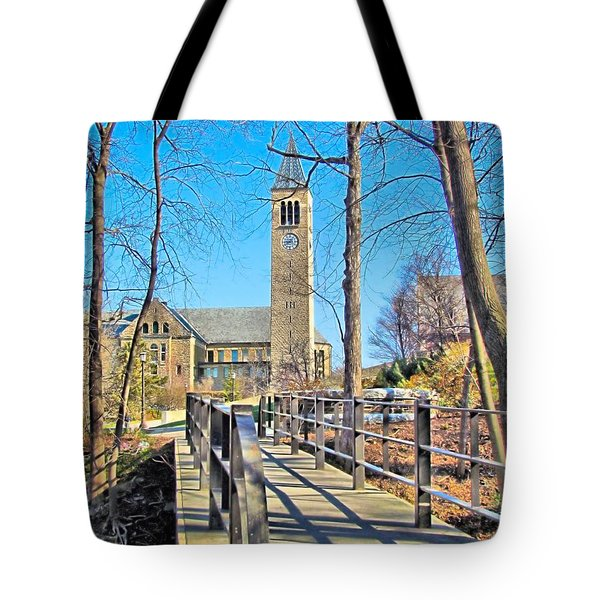 View To Mcgraw Tower Tote Bag