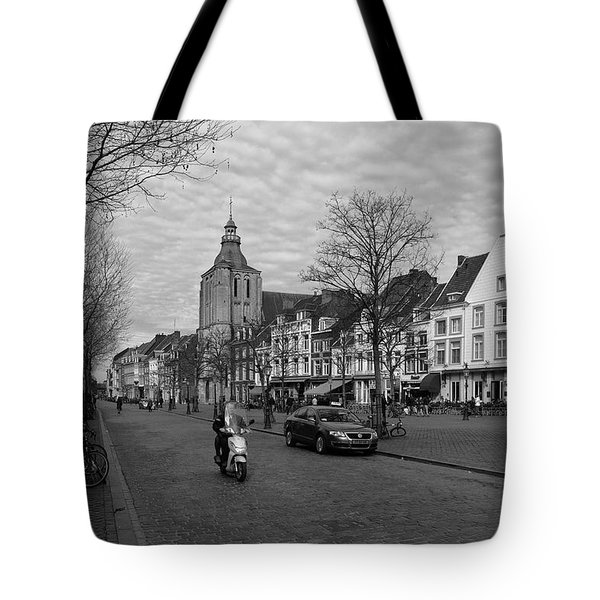 View To The Bosch Street In Maastricht Tote Bag by Nop Briex