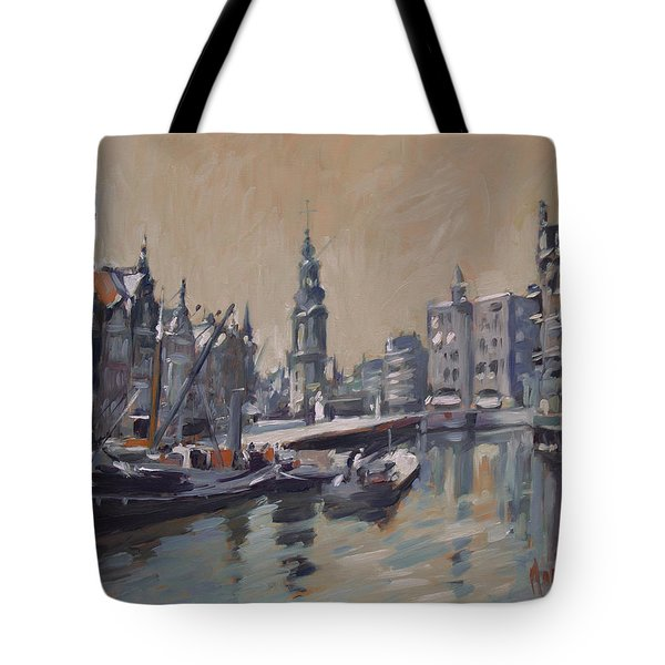View To The Mint Tower Amsterdam Tote Bag by Nop Briex