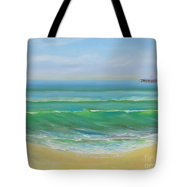 View To The Pier Tote Bag