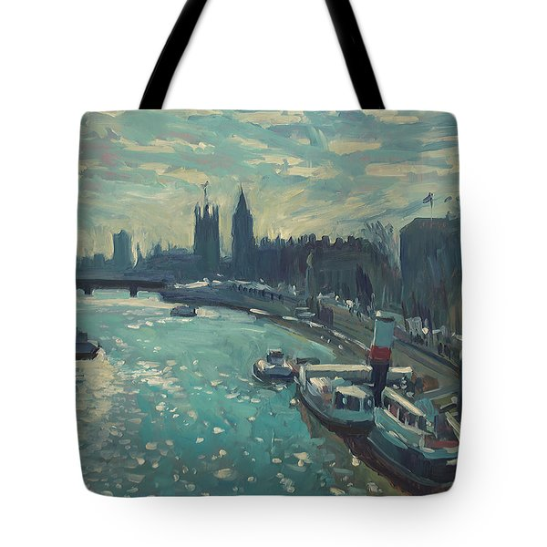 View To Westminster London Tote Bag