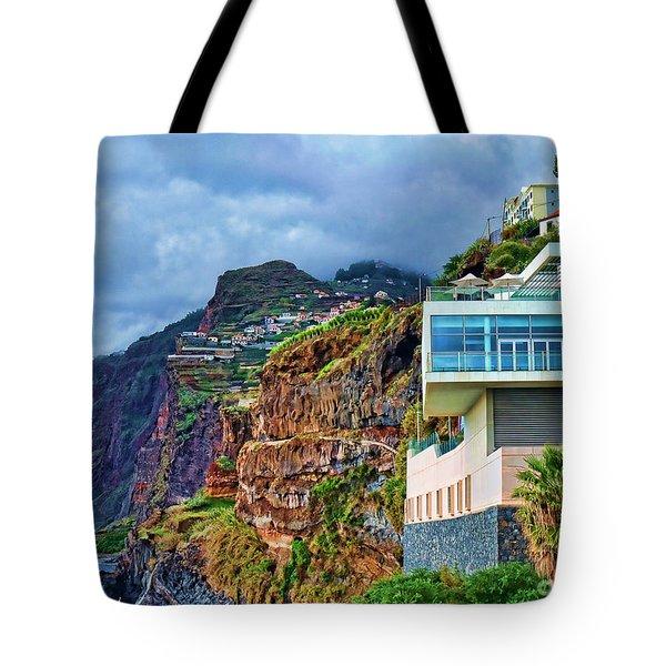 Viewpoint Over Camara De Lobos Madeira Portugal Tote Bag