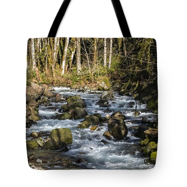 Views Of A Stream, II Tote Bag by Chuck Flewelling