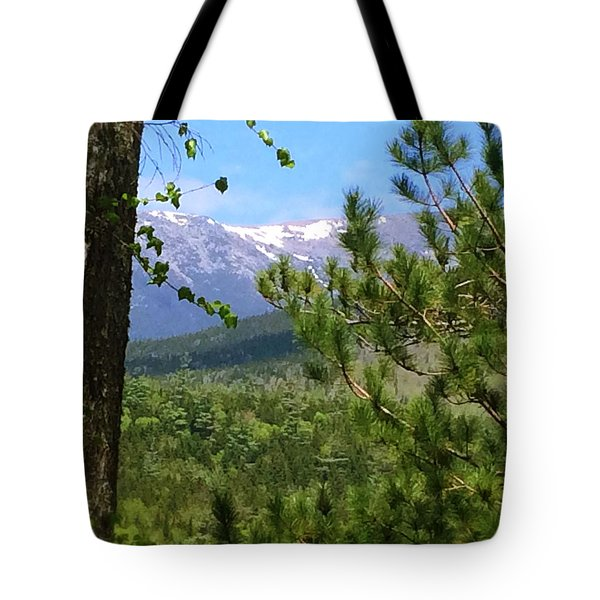Views Of Katahdin Tote Bag by Robin Regan