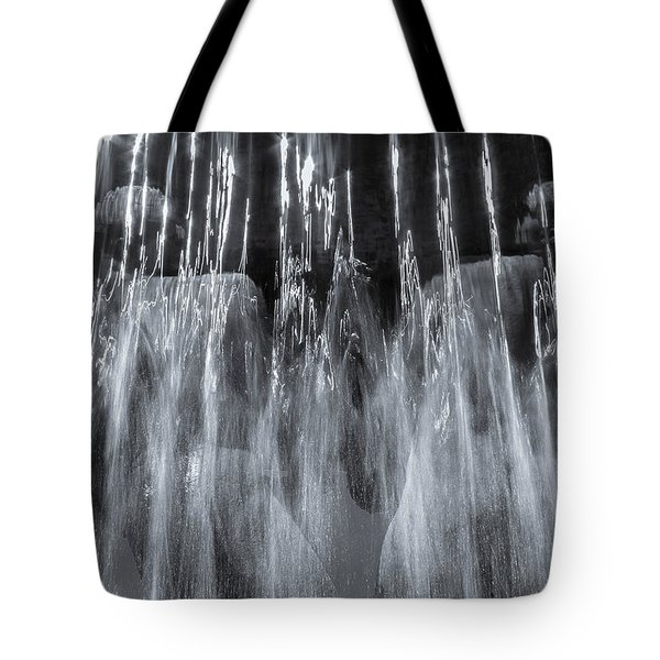 Tote Bag featuring the photograph Vigeland Fountain In Blue by KG Thienemann
