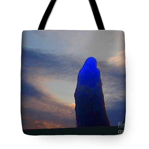 Tote Bag featuring the digital art Vigil by Lyric Lucas