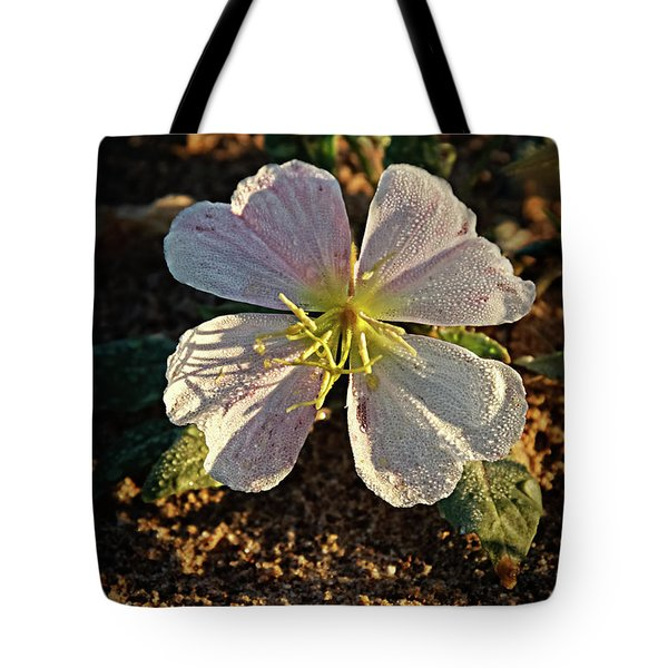 Tote Bag featuring the photograph Vignette Evening Primrose by Robert Bales