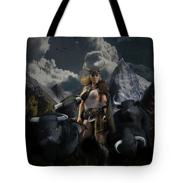 Viking Gefjon Tote Bag by Andy Renard