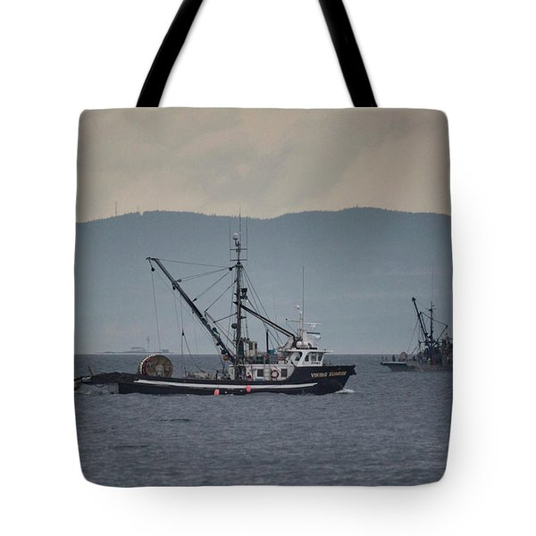 Viking Sunrise Tote Bag by Randy Hall