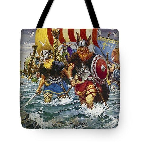 Vikings Tote Bag by Jack Keay