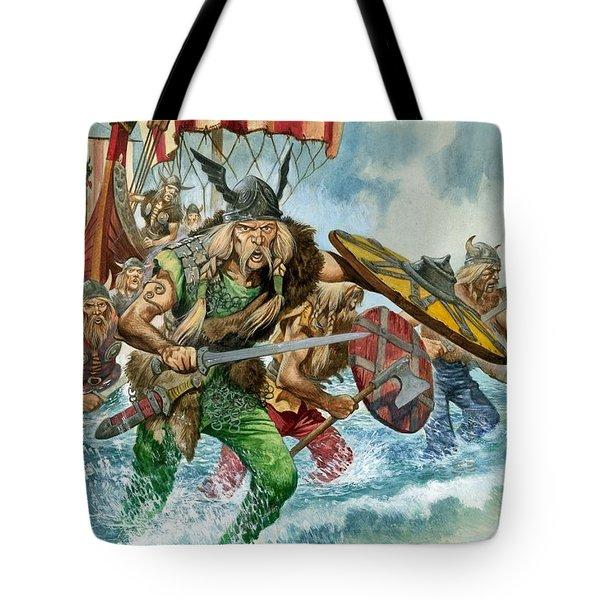 Vikings Tote Bag by Pete Jackson