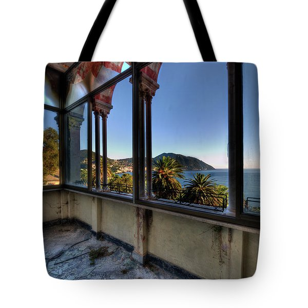 Tote Bag featuring the photograph Villa Of Windows On The Sea - Villa Delle Finestre Sul Mare II by Enrico Pelos