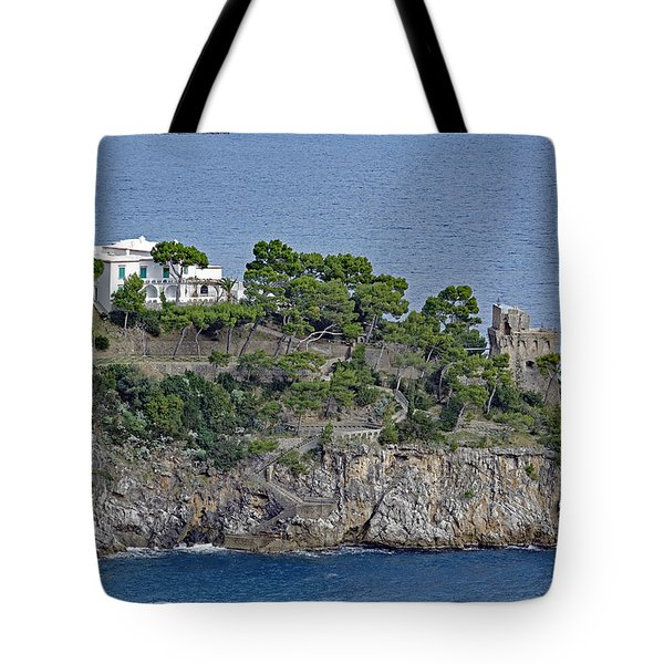 Villa Owned By Sophia Loren On The Amalfi Coast In Italy Tote Bag