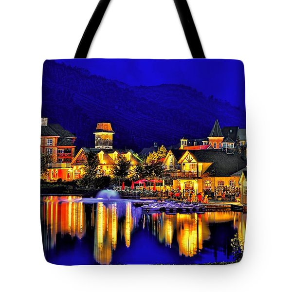 Village At Blue Hour Tote Bag