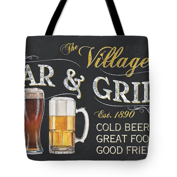 Village Bar And Grill Tote Bag
